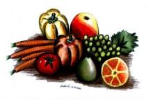 Kompozycja owocowo-warzywna